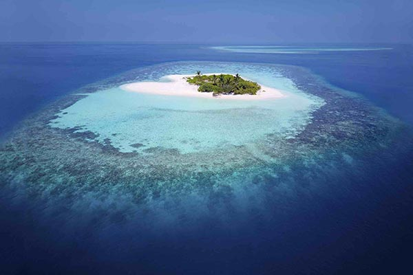Atollo di Rasdhoo isola disabitata