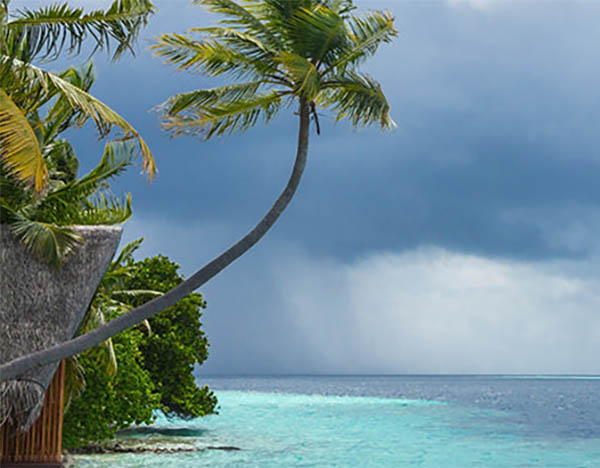 Maldive a Ottobre Pioggia