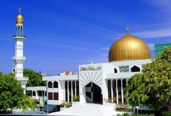 Moschea del Venerdì Maldive ad Agosto