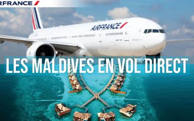 Air France riprende i voli per le Maldive